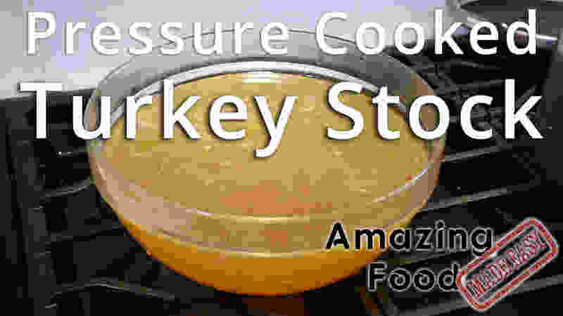 Pressure cooked turkey stock