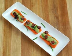 胡萝卜木板豌豆布丁