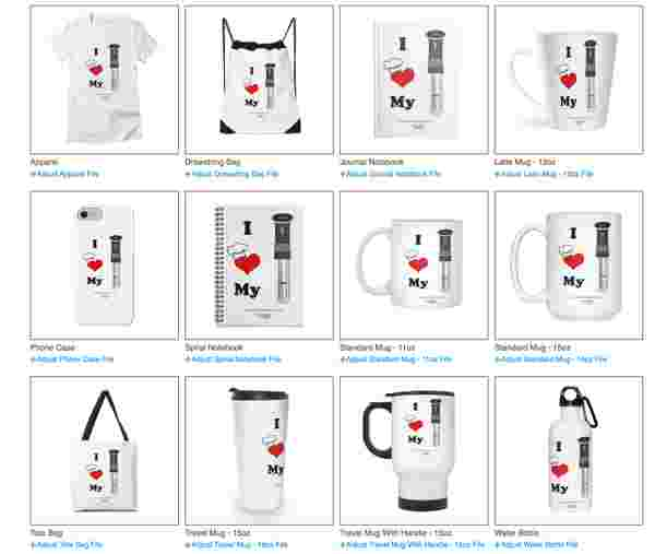 Threadless product options