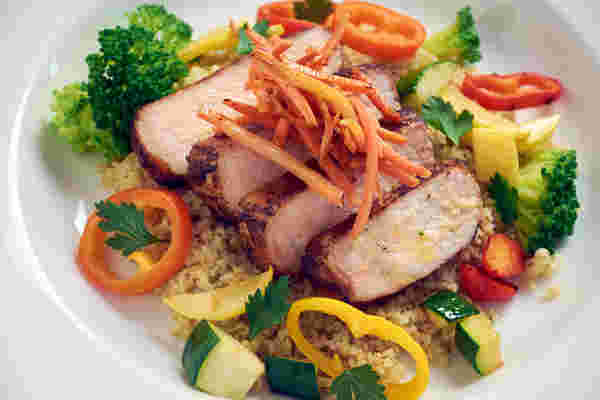 Sous vide pork freekeh bowl 2
