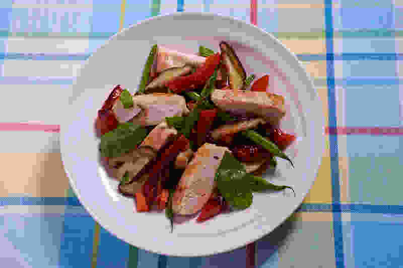 Sous vide chicken breast sauteed vegetables 2