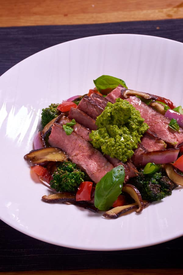Sous vide steak vegetables 4