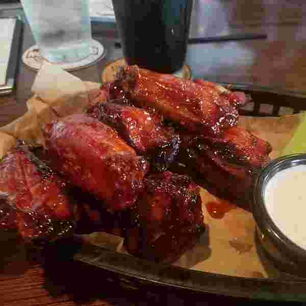Amazing smoked wings at northbound smokehouse. had a great smoked porter too.