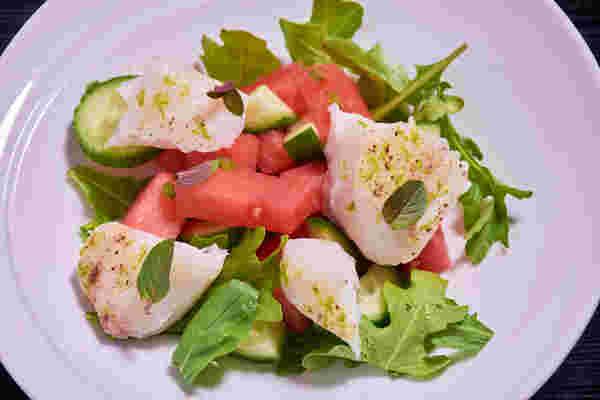 烹饪鳕鱼,西瓜沙拉