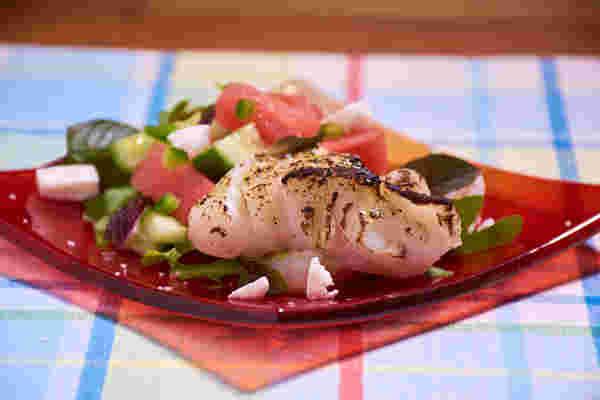 烹饪鳕鱼西瓜沙拉