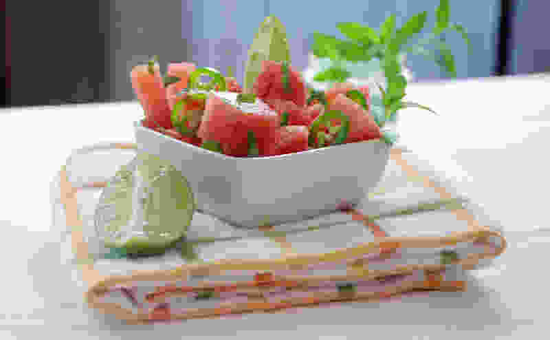 Watermelon and jalapeno salad