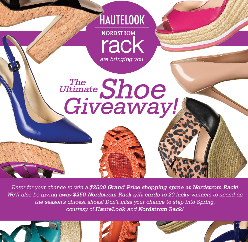 cd0b841842d9 HauteLook and Nordstrom Rack are bringing you the Ultimate Shoe Giveaway!