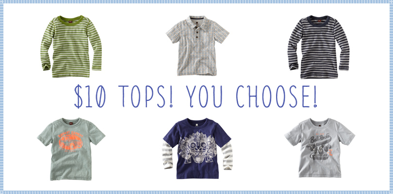 Vote for your favorite Tea Collection boys tops