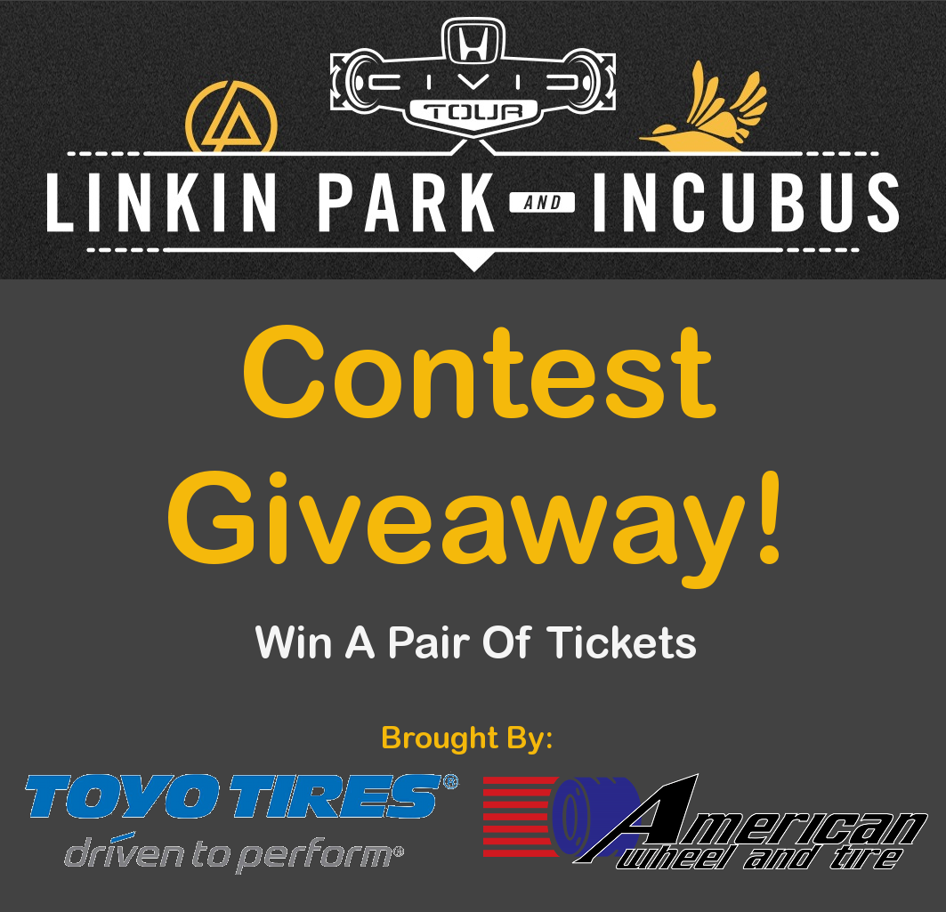 2012 Linkin Park and Incubus Free Tickets