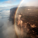 Daniel Jung - Vertical rainbow created by 2000 ft Kukenan Falls, Venezuela