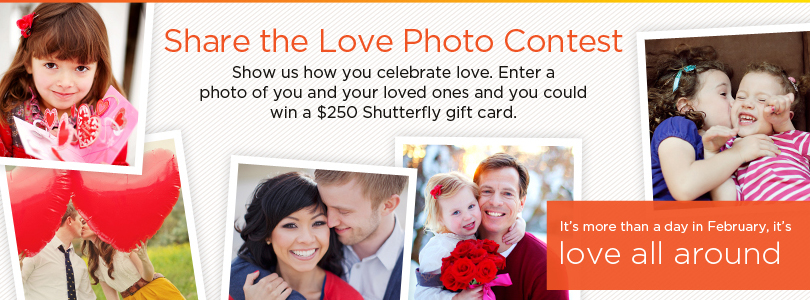 Shutterfly Share Your Love Valentine's Contest