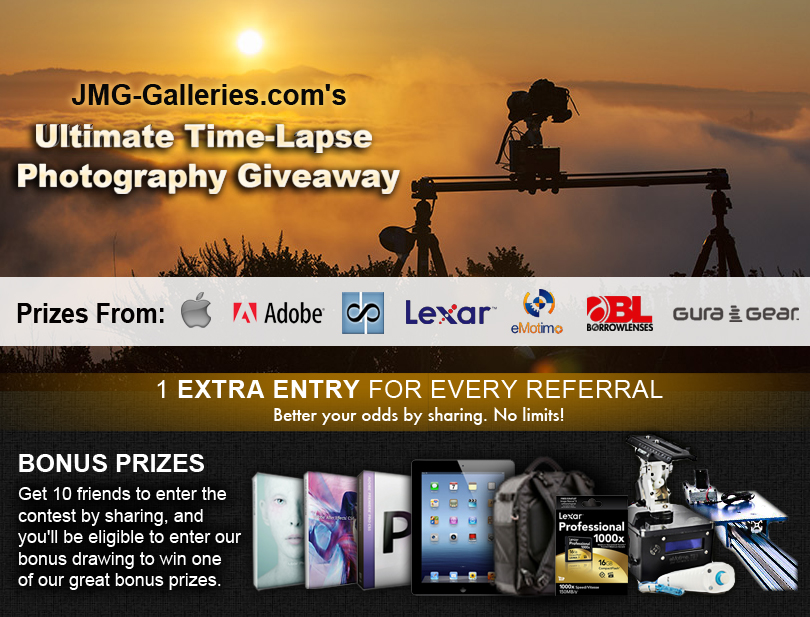 JMG-Galleries: Landscape, Nature, Travel & Fine Art Photography: Win the Ultimate Time-Lapse Photography Setup - Over $5000 in Overall Prizes
