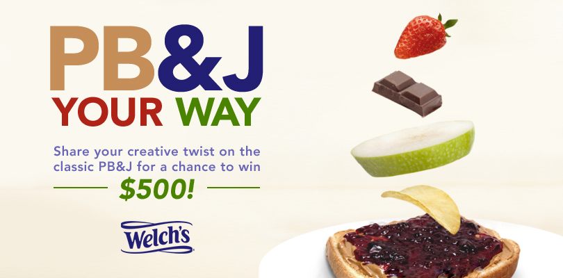 PB&J Your Way to win $500!