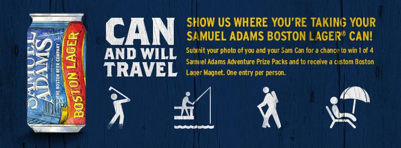 FREE custom Sam Adams magnet..
