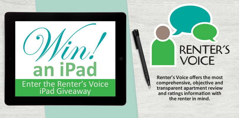 Renter's Voice: Enter for Your Chance to Win a FREE iPad!