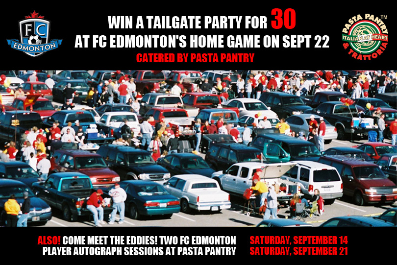 Tailgate With Pasta Pantry At Fc Edmonton Caption Contest