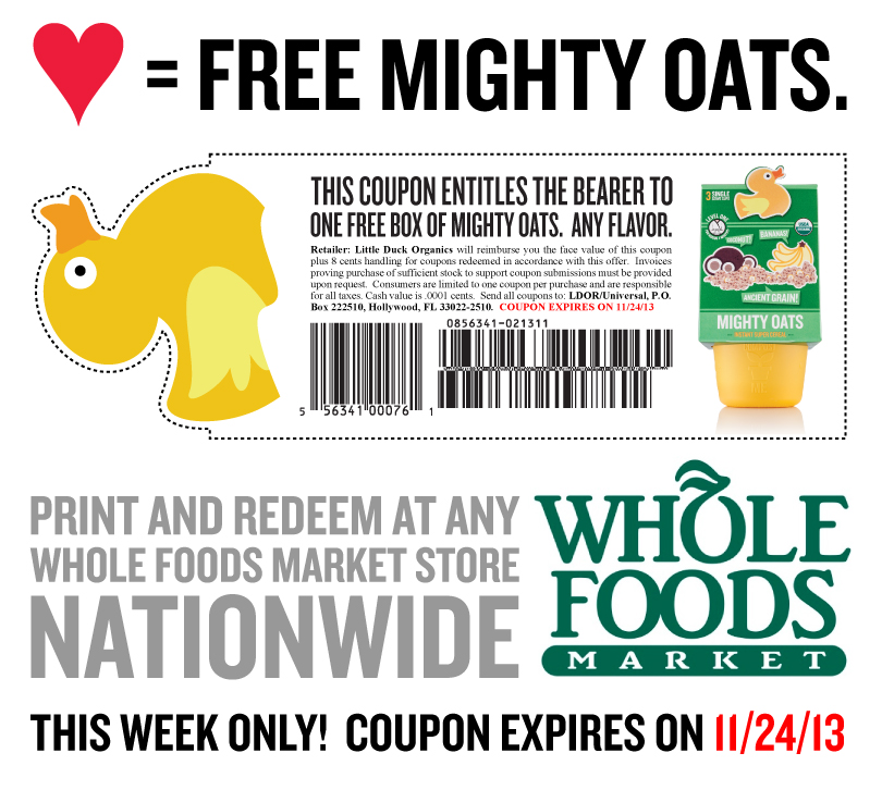 box of Mighty Oats at Whole Foods stores