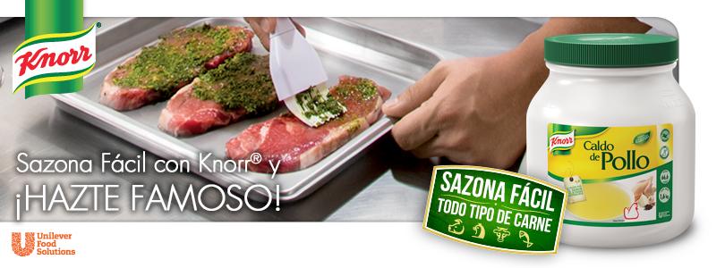 Sazona fácil con Knorr® y ¡Hazte famoso!