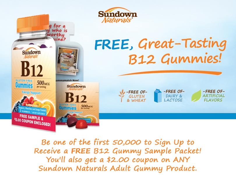 FREE Sundown Naturals B12 Gumm...