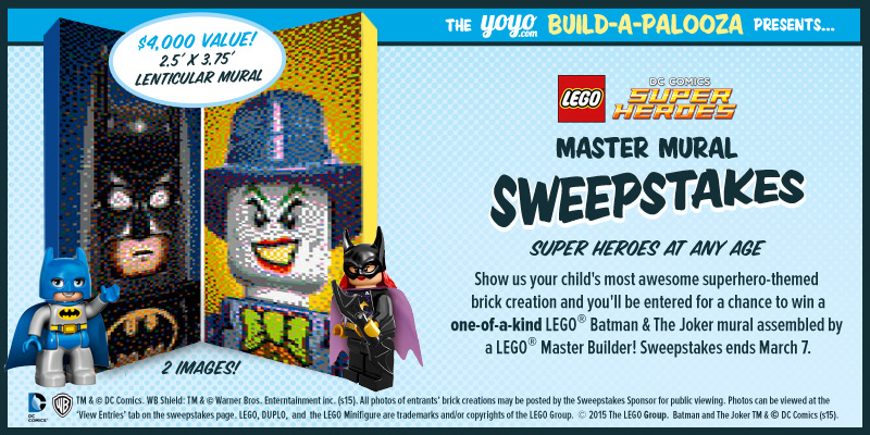Lego master mural sweepstakes for 10 exchange place 25th floor jersey city nj 07302