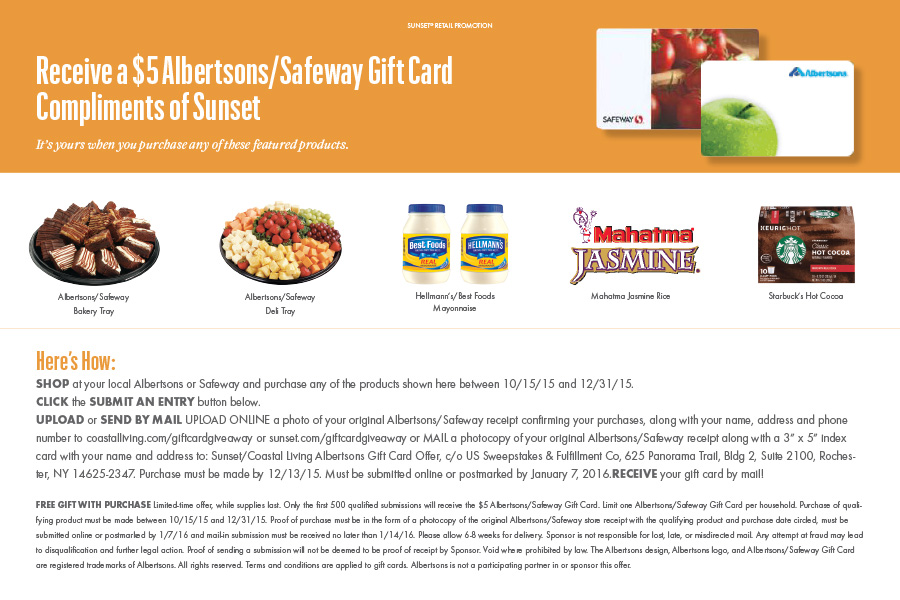 Receive A 5 Albertsons Safeway Gift Card