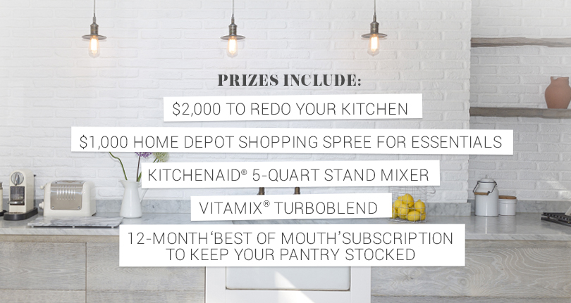 Kitchen Makeover Sweepstakes: Enter for your big chance to win