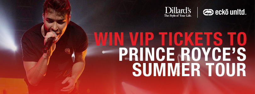 Prince royce vip concert experience ecko x dillards are giving you and a friend the chance to win vip tickets to meet and see prince royce live in concert well be giving away tickets to m4hsunfo