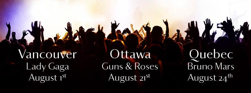 FREE TICKET FRIDAYS: Vancouver, Ottawa & Quebec City