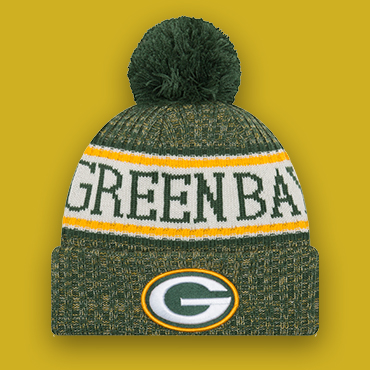 dd3ca66291b487 Get it at the Packers Pro Shop. Sideline Official TD Knit Hat