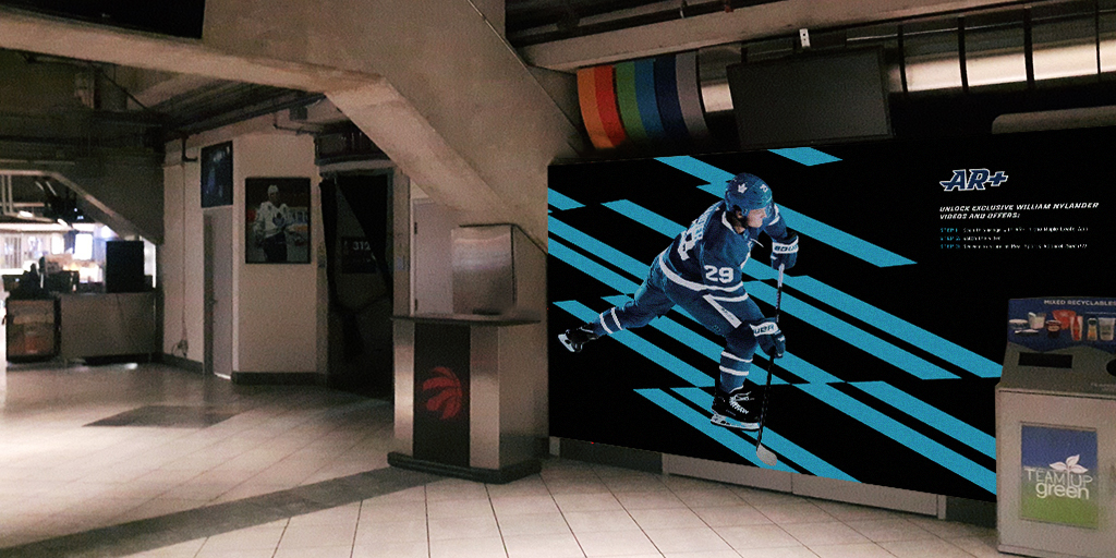 ACC concourse with AR poster