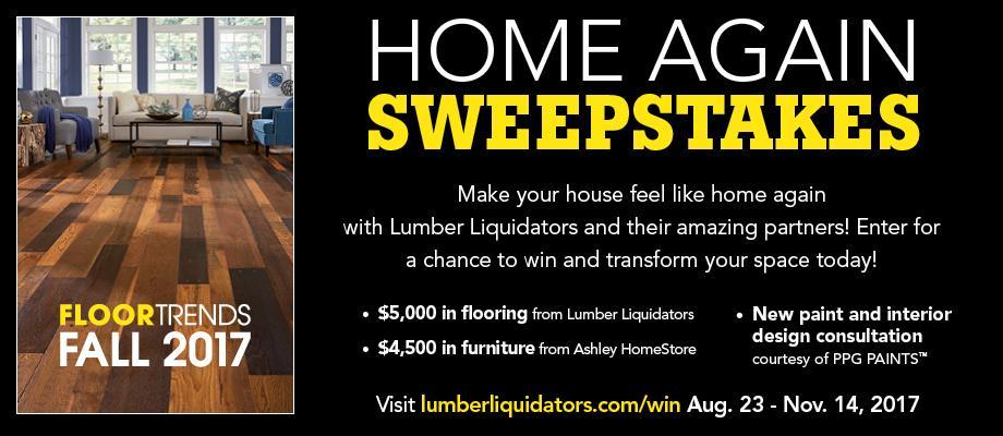 Sweepstakes Contest | Lumber Liquidators