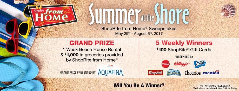 SRFH Summer Sweeps – ShopRite