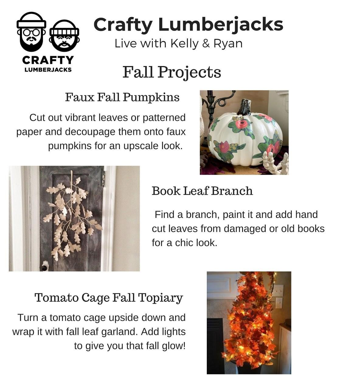 Fun Fall Crafts With The Crafty Lumberjacks Live With Kelly And Ryan