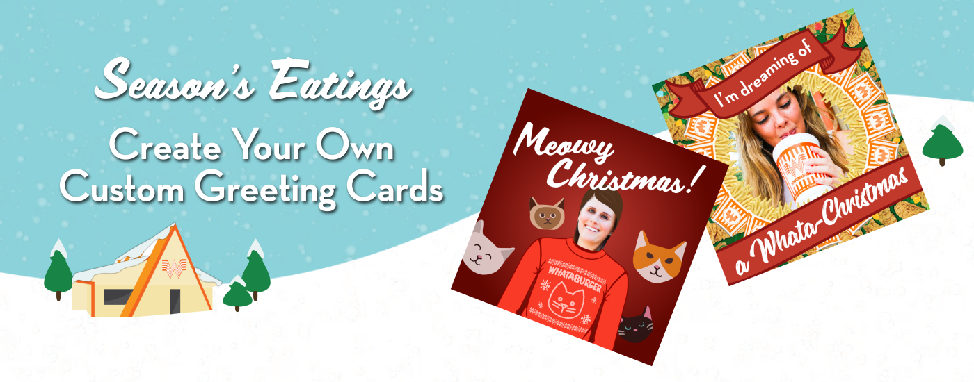 make all your friends jealous with your very own whataburger holiday card - Make Your Own Card