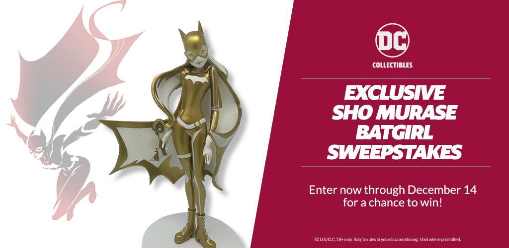 Exclusive Sho Murase Batgirl Sweepstakes