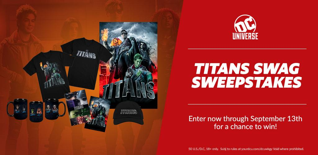 Enter for a chance to win a Collection of Titans Swag!
