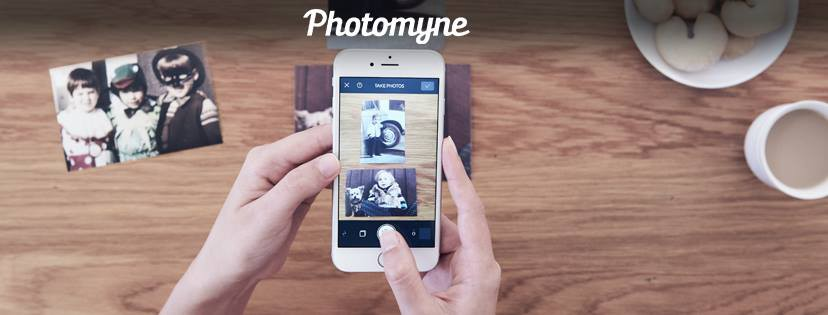 Photomyne app in action