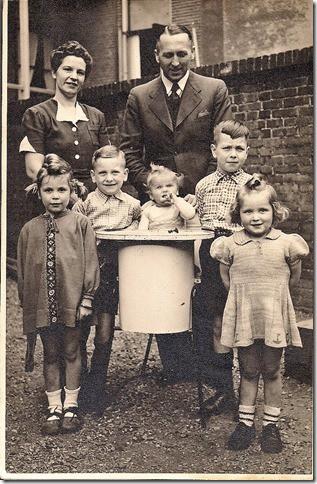 The van den Born family, late 1940s