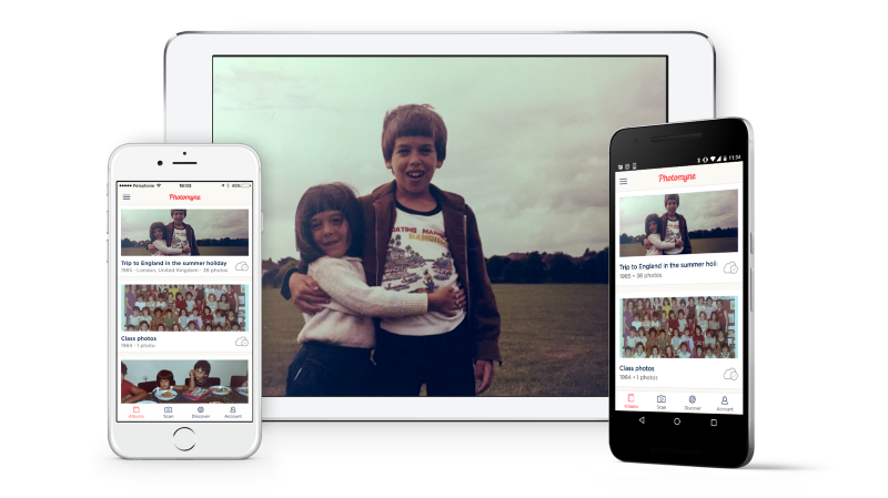 Account sync on multiple devices is the best way to enjoy your scanned Photomyne photos