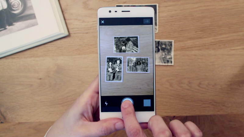 Scan in batches of up to 3 or 4 paper photos to save time