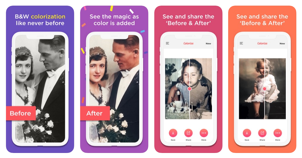 Turn monochromatic old photos into vibrant photo memories full of life and color in just seconds, with accurate AI photo colorization.