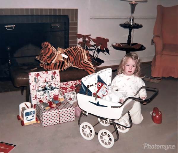 Photo by Kate Gryson - Susan Bacon on Christmas morning - December 25, 1963, Newport News, VA, USA