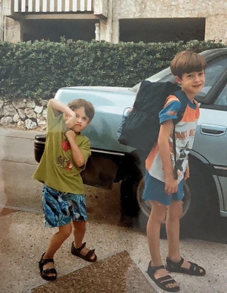 Ofir Huber, Head of Web Development: - Mom and I having gum-flavored ice cream  (Herzliya, 1996).