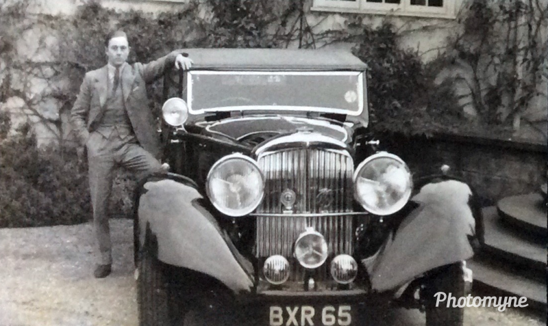 Photo of my father with his Rolls Bentley. His name was Sir James Walker, Baronet, and he was born in 1912 in England and he died in 2005 on the Isle of Man. He was passionate about cars since childhood and owned many very interesting ones. His nickname was Sir Jehu because he drove furiously. Shared by Victor Walker