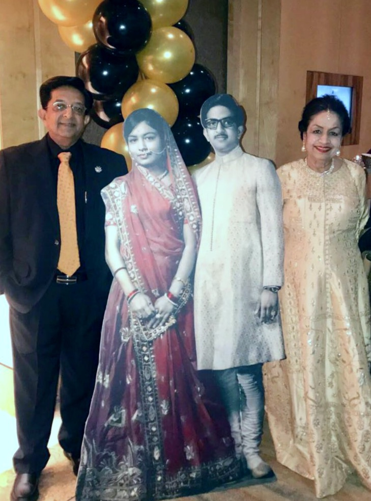 Arun and Sumita at their 50th anniversary party