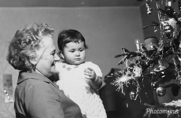 Photo by Tomas Hyanek - My grandmother and my sister - 1974, Zlin, Czech Republic