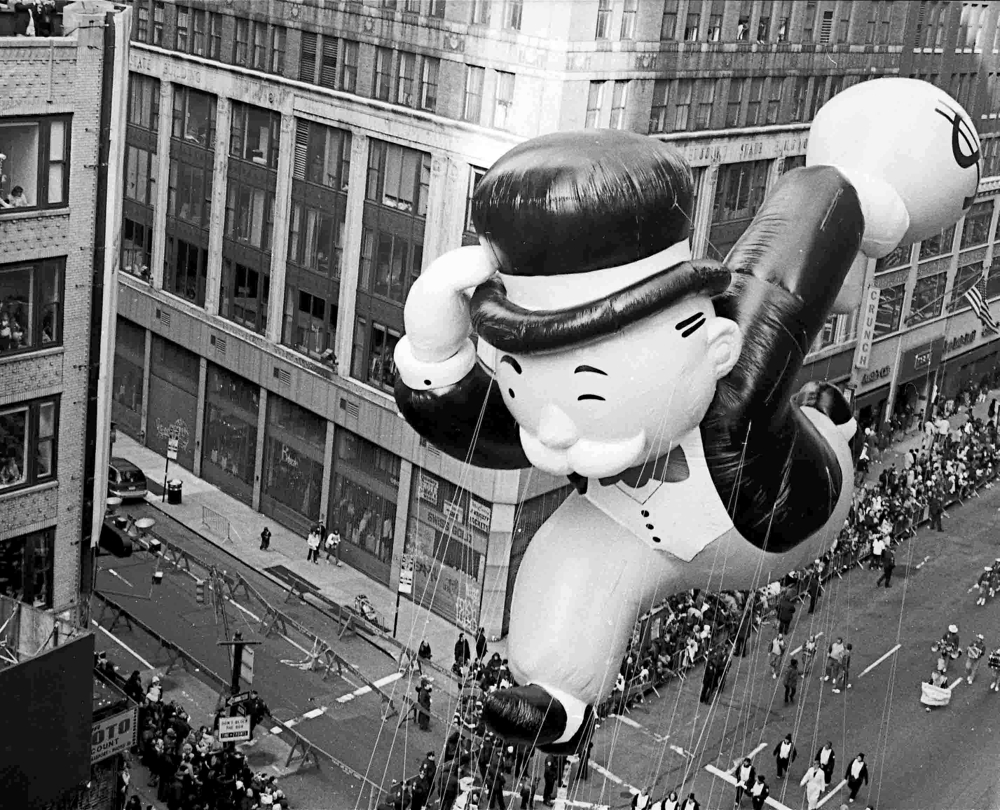 Uncle Penny balloon at the parade - photo via Flickr