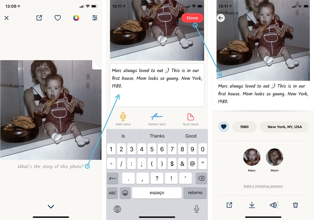 A look at the new single photo view