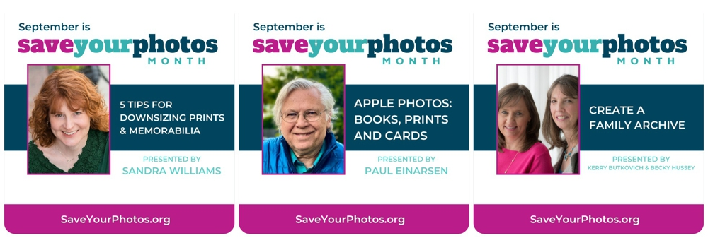 See these classes and more during Save Your Photos Month.