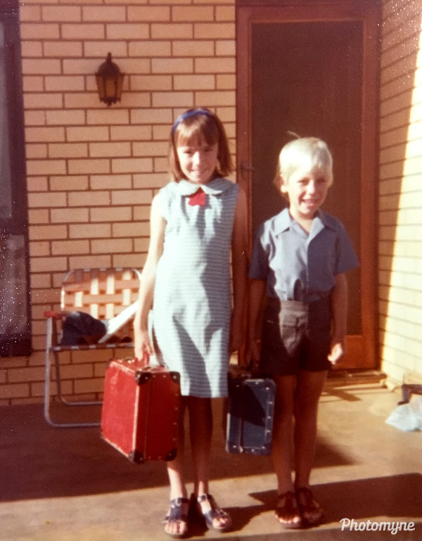 Back to school - First day at a new school. Australia 1980